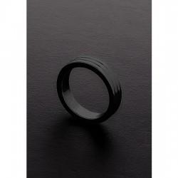 GOLDEN BLACK RIBBED C RING 10X40MM