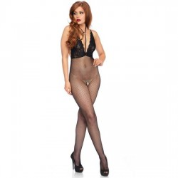 LEG AVENUE BODYSTOCKING DE RED CON ABERTURA