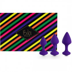 FEELZTOYS BIBI KIT DE 3 PLUGS SILICONA MORADO