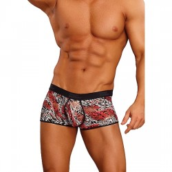 MALE POWER BOXER ESTAMPADO LEOPARDO ROJO