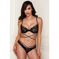 CRISS CROSS LACE BRALETTE AND PANTY