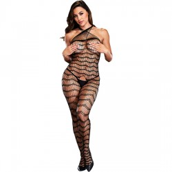 CRISS CROSS CROTCHLESS BODYSTOCKING