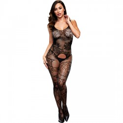 CROTCHLESS JACQUARD BODYSTOCKING