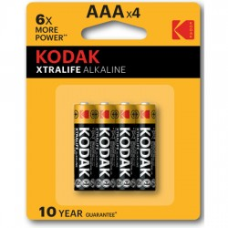 KODAK XTRALIFE ALKALINE AAA 10 PACKS DE 4UDS